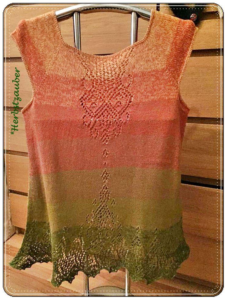 Tunika aus *Herbstzauber*, Merino im Farbverlauf | knitting tops ...