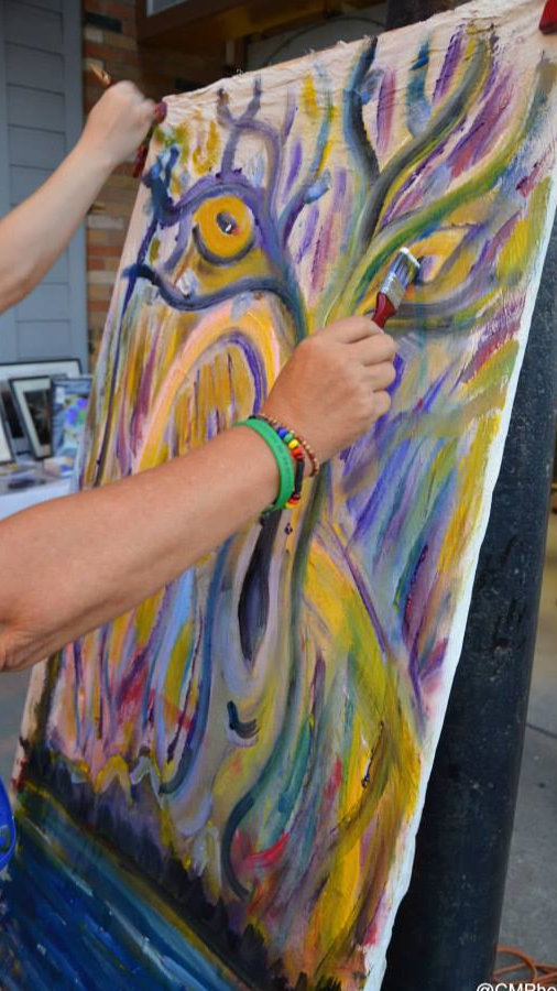 Painting Live at Art Walk On Main