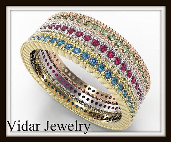 White Gold Plated Ring With Multicolor Crystal Rhinestone Rings Women Jewelry CG