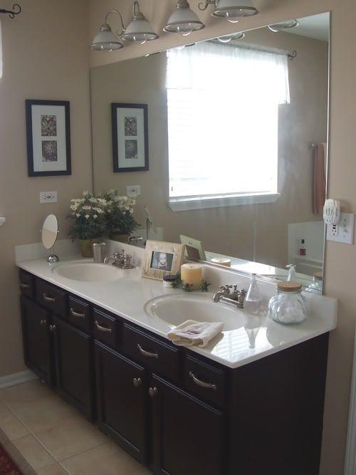 Nice Black Bathroom Cabinets W Tan Walls (Donu0027t Like As Much)