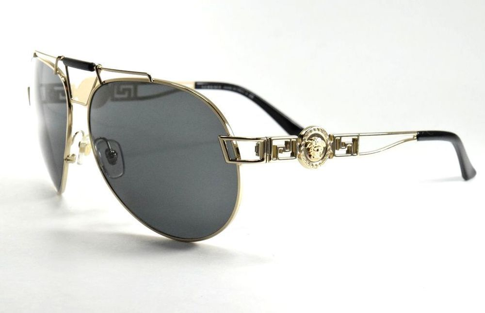 a49a059cc6c Versace Sunglasses 2160 1252 87 Gold Aviator W  Black Lenses  fashion   clothing  shoes  accessories  unisexclothingshoesaccs  unisexaccessories (ebay  link)