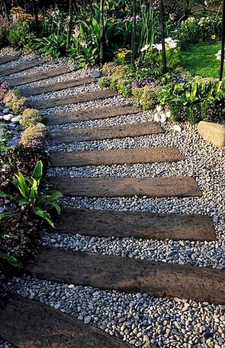 Simple and Affordable Wooden Garden Path Ideas | Outdoor ...