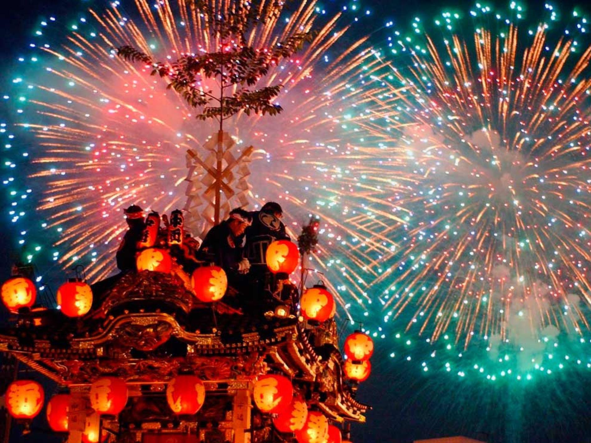 Top 10 Nocturnal Festivals Japanese festival, Fireworks