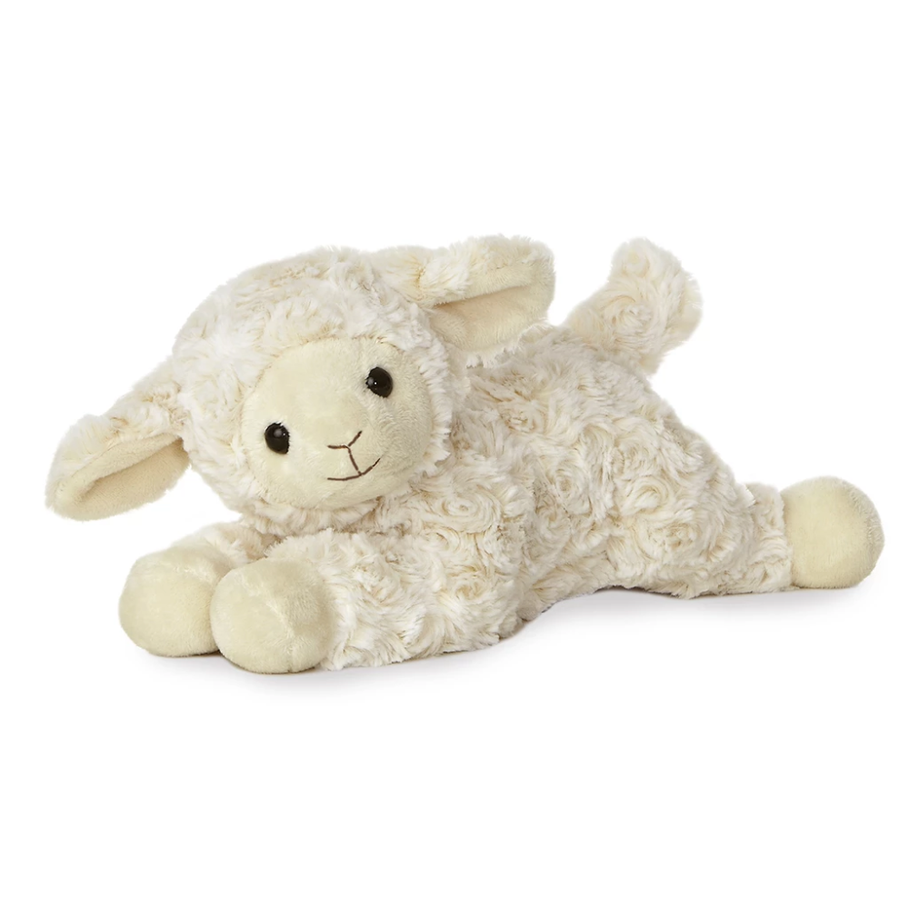 Aurora 12 Sweet Cream Lamb Lamb Stuffed Animal Musical Lamb Plush Lamb