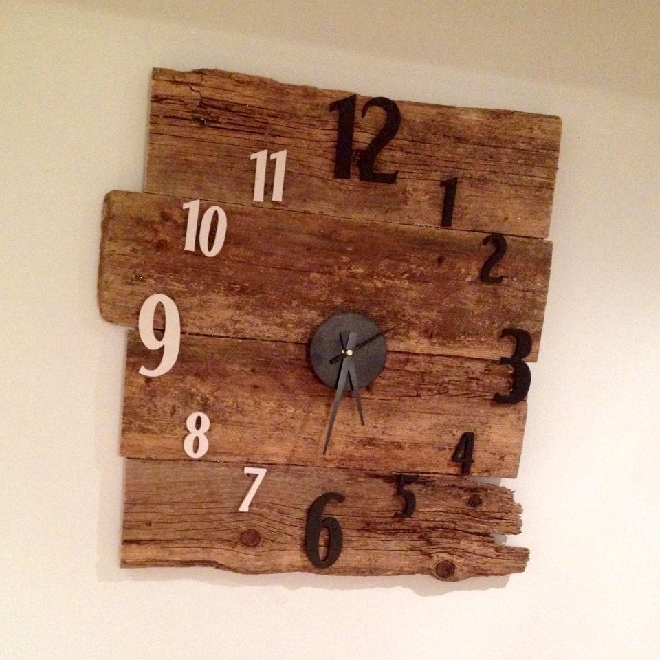mon horloge en bois de palette 24 pour moins de 5 chez nous pinterest. Black Bedroom Furniture Sets. Home Design Ideas