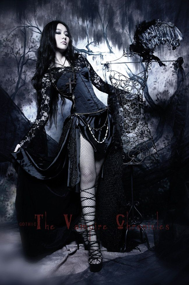 Long black gothic dresses uk