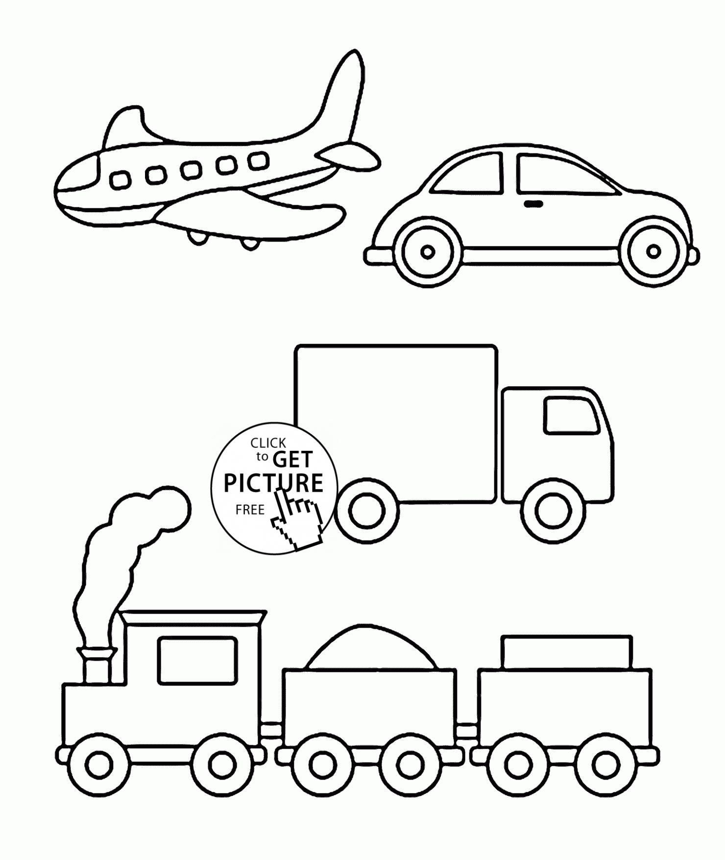 38 Simple Coloring Pages To Print In 2020 Easy Coloring Pages Tractor Coloring Pages Cars Coloring Pages