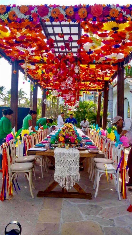 72 Sweet Garden Wedding Decor Ideas To Try Mexican Party Theme Mexican Party Decorations Mexican Theme Party Decorations