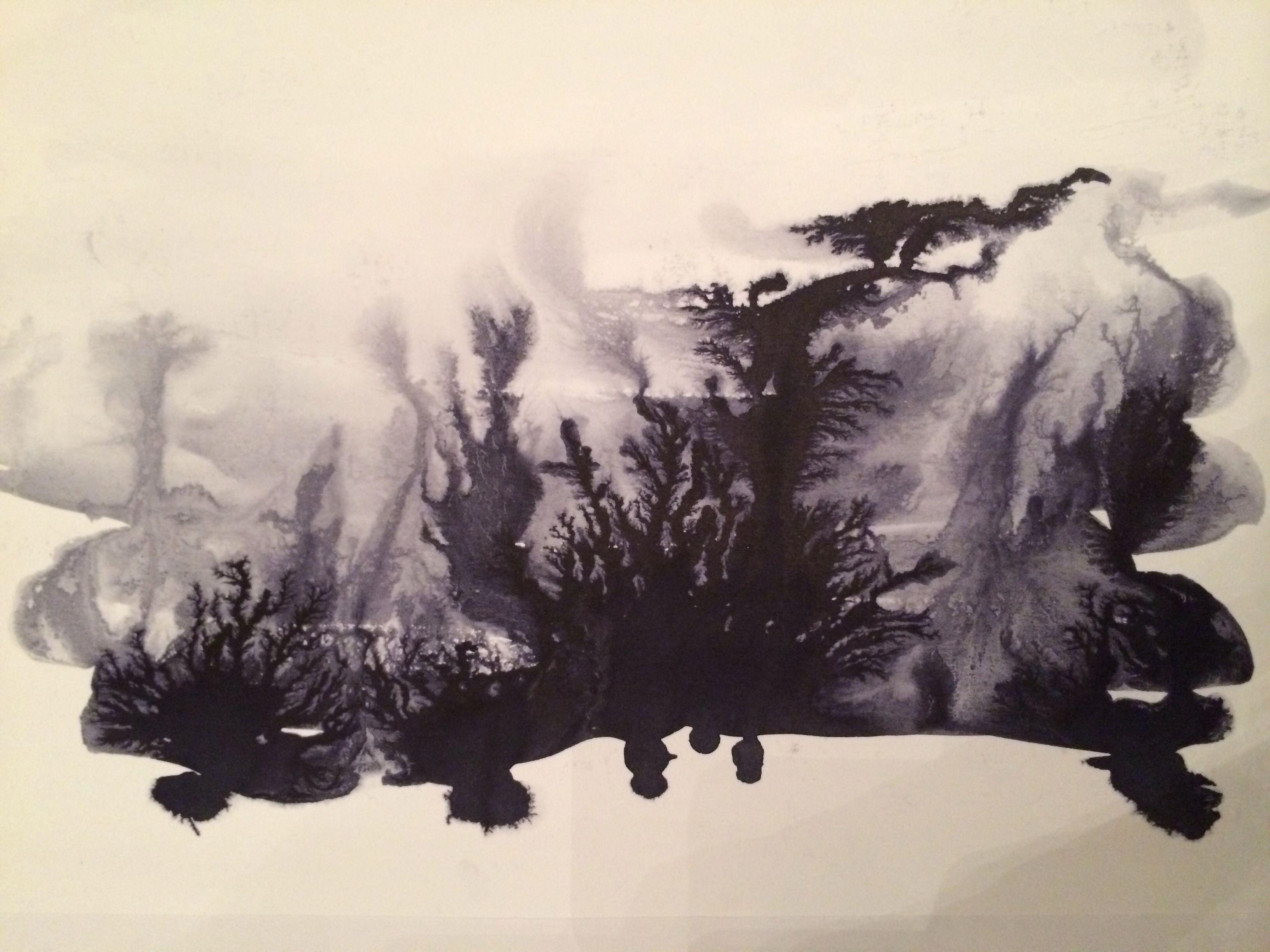 Black Ink Running Salt Water #art #ink #