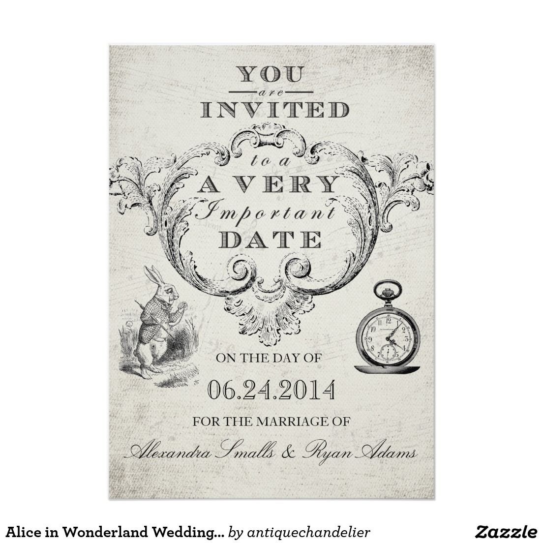 Alice in Wonderland Wedding Invitation | Art | Pinterest | Alice