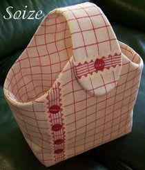 petit sac panier avec tuto plus sacs couture sac. Black Bedroom Furniture Sets. Home Design Ideas