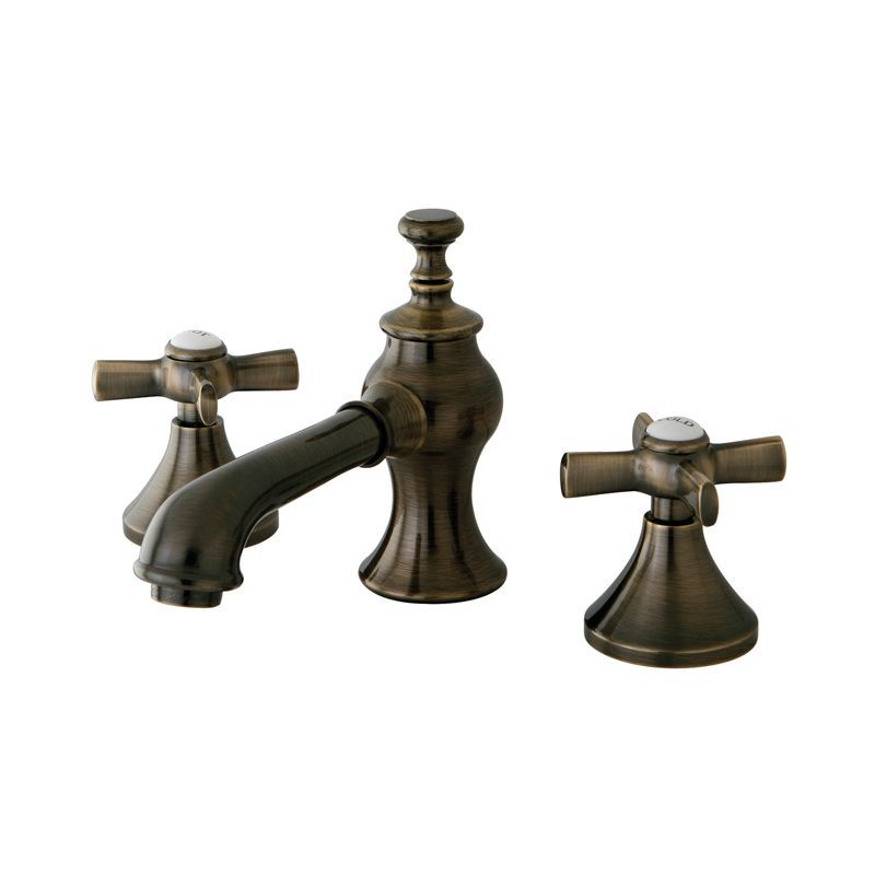 Exceptionnel Kingston Brass KS706.ZX English Country Widespread Bathroom Faucet With  Metal Cr Vintage Brass Faucet Lavatory Double Handle