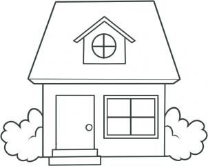 How To Draw A House For Kids Step 8 House Drawing For Kids Art Drawings For Kids Simple House Drawing