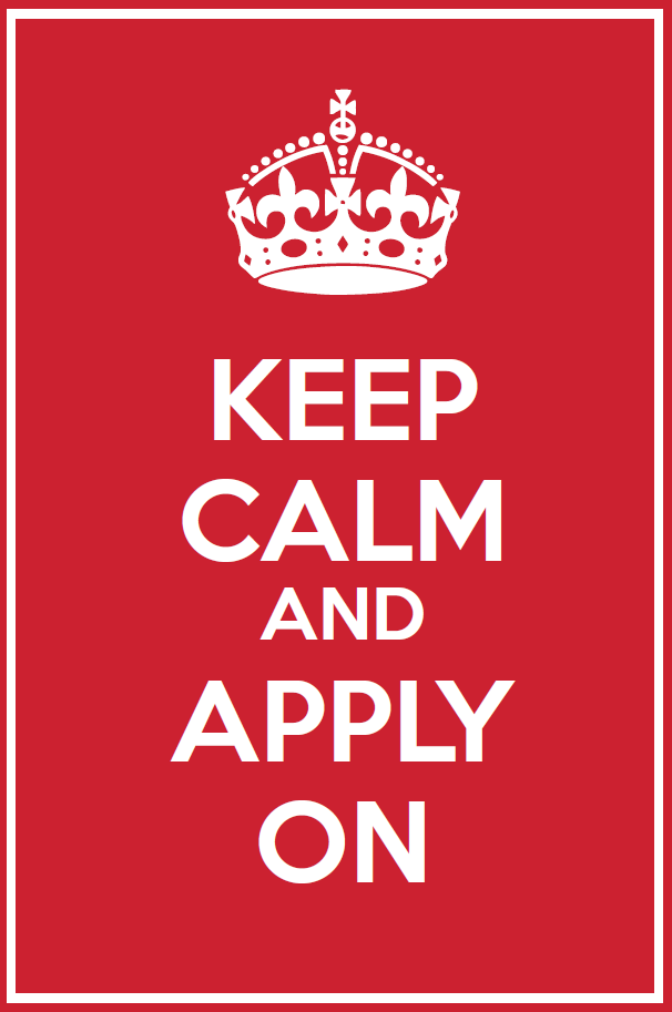 MotivationalMonday Keep Calm and Apply On Calm