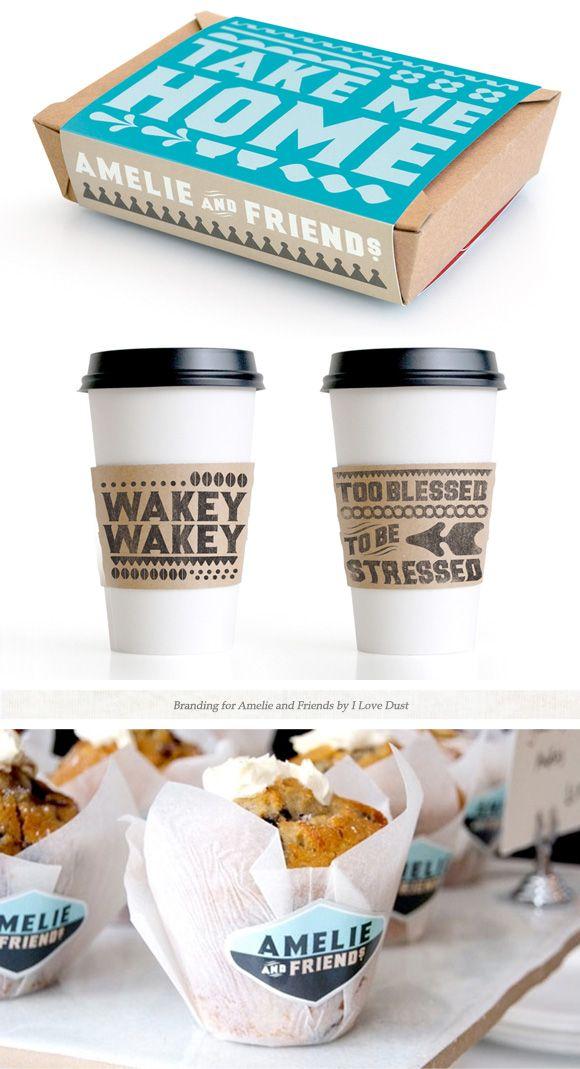 Smart, sweet cafe identity.