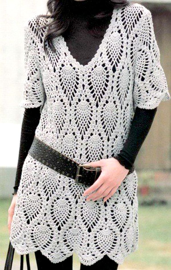 15 Elegant Crochet Tunics With Diagrams | Crochet Fashion | Crochet ...
