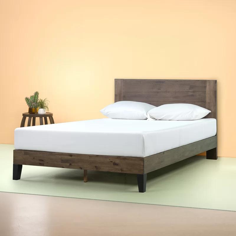 Kira Platform Bed In 2020 Headboards For Beds Wood Platform Bed