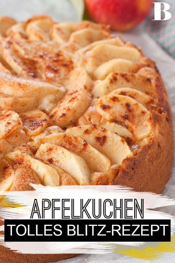 Blitz-Apfelkuchen #applepierecipe