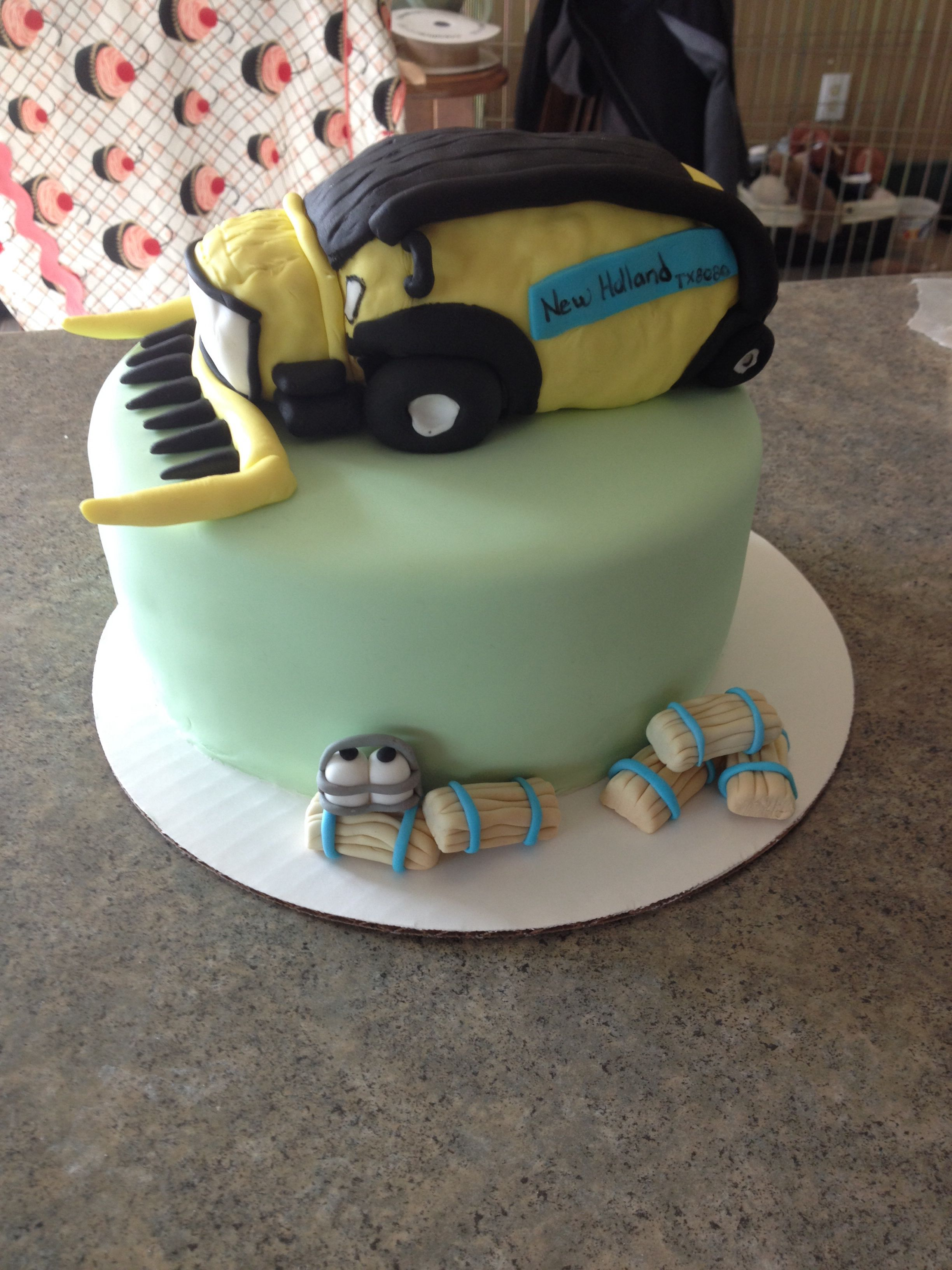 New holland combine cake