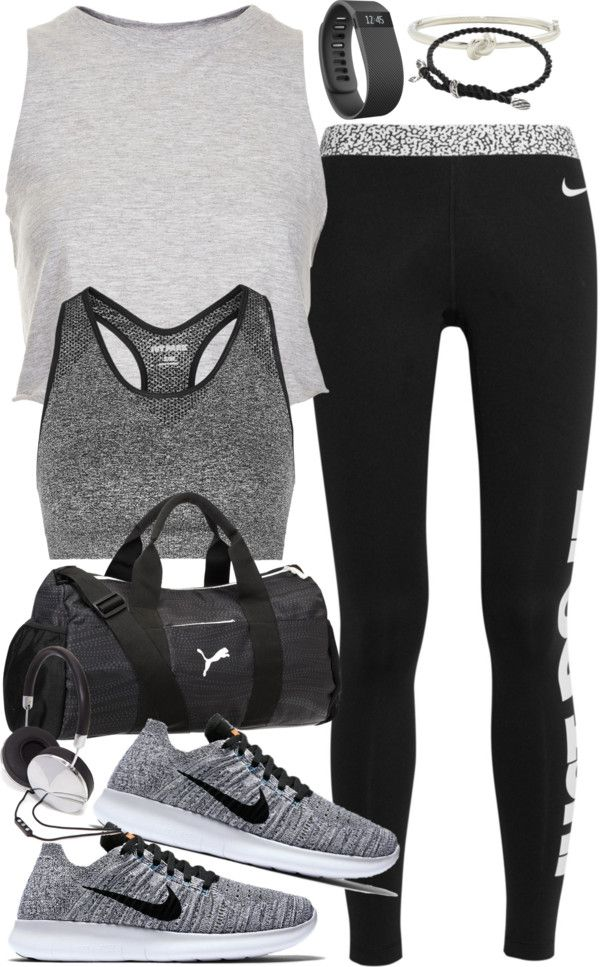 outfit for the gym by ferned featuring silver bangles