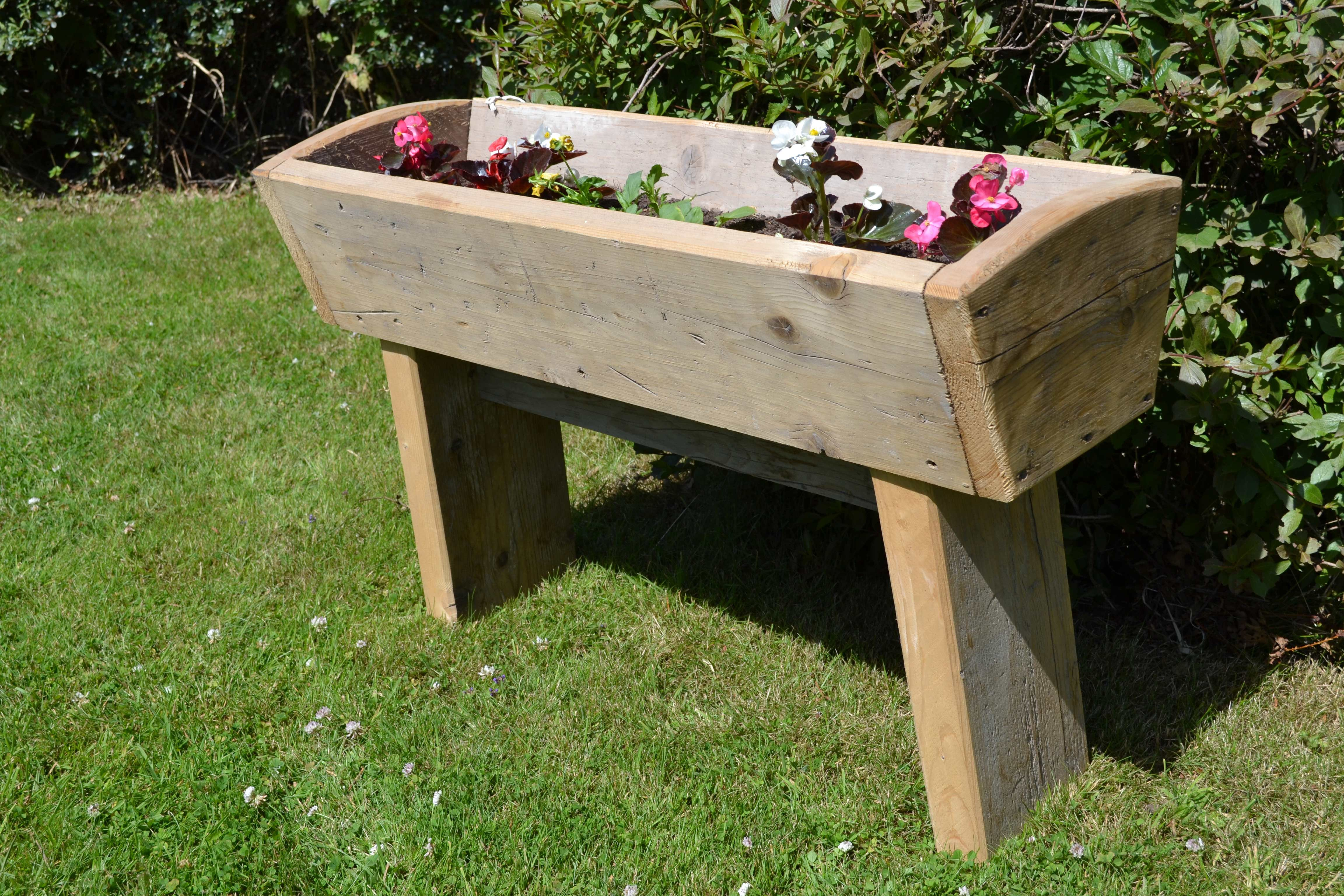 Plant Trough With Legs | Glasgow Wood Recycling