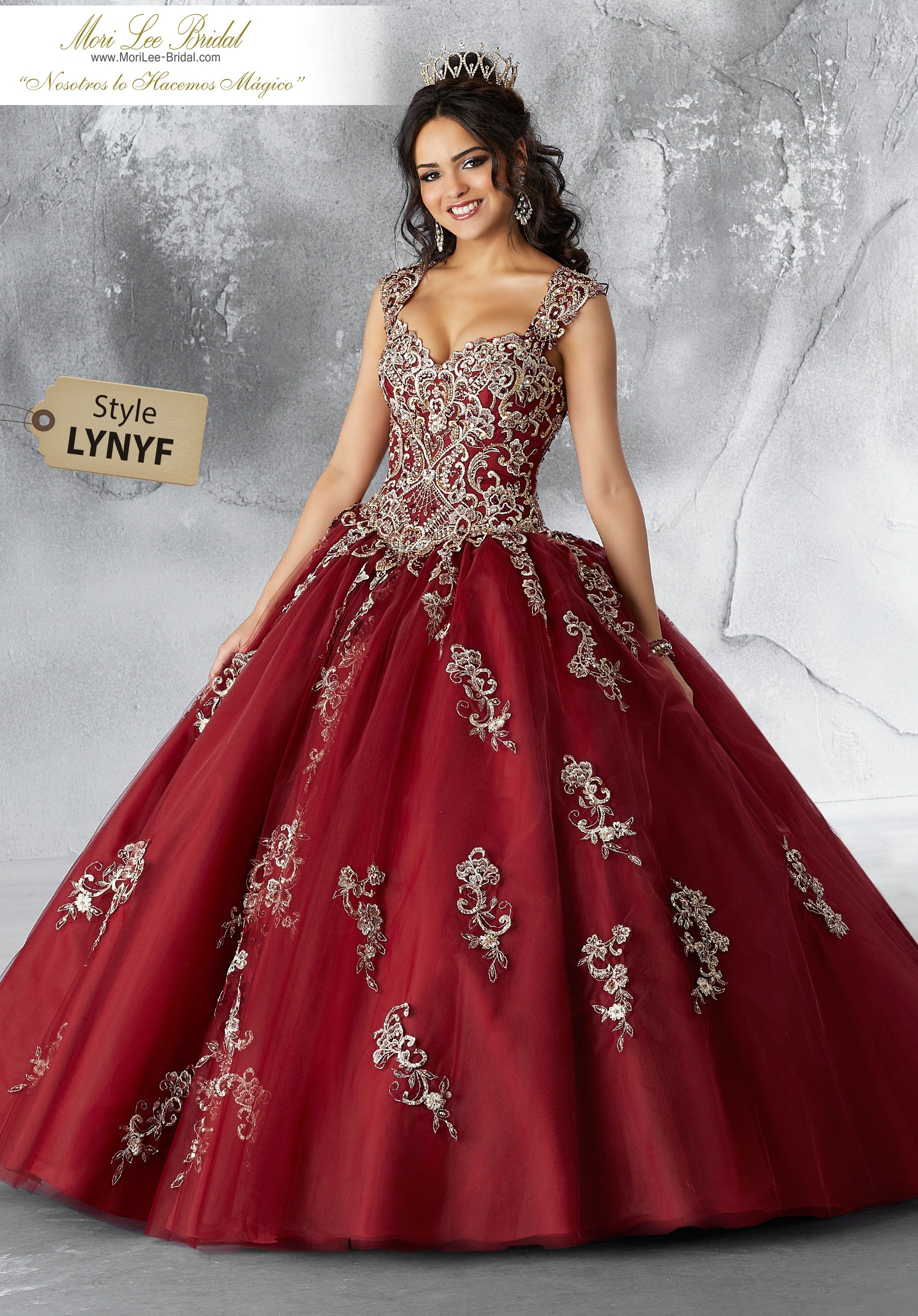 105a0a72708 Estilo LYNYF Contrasting Beaded Embroidery on a Tulle Ballgown Tulle  Quinceañera Dress Featuring Gorgeous Contrasting Embroidery Throughout the  Sweetheart ...