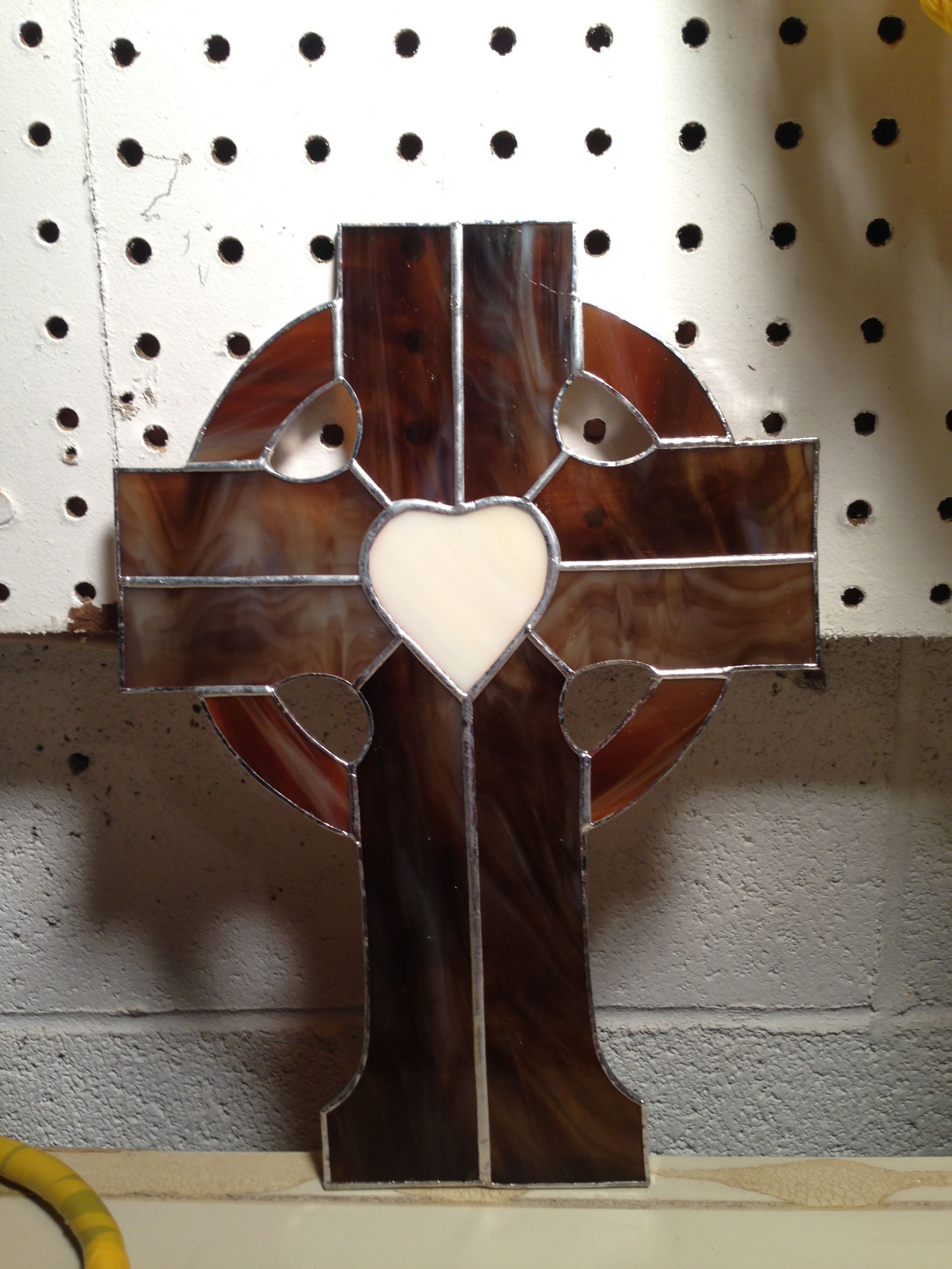 """This cross is about 12"""" x 8"""" and makes a great wedding gift!"""