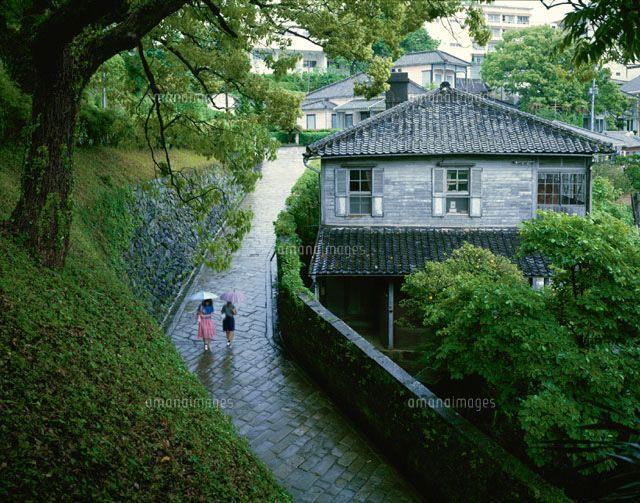 雨のオランダ坂 長崎市 25658005625 写真素材 ストックフォト イラスト素材 アマナイメージズ 風景 美しい景色 長崎 観光