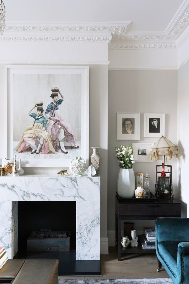 A modern Victorian house interior in London belonging to interior ...