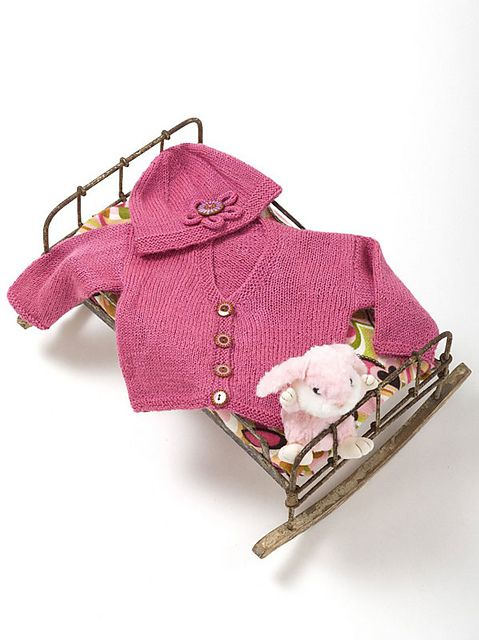 Craft Passions: Baby Jacket & Hat..# free #knitting pattern link h ...