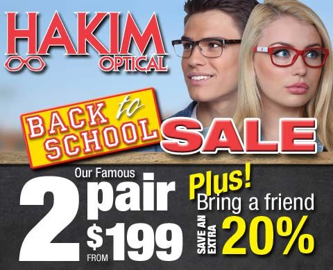 Hakim Optical Back To School Promotion