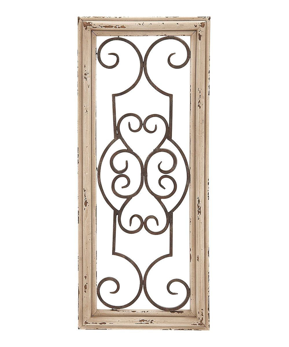 Light scrolling wood u metal wall panel zulily future furniture