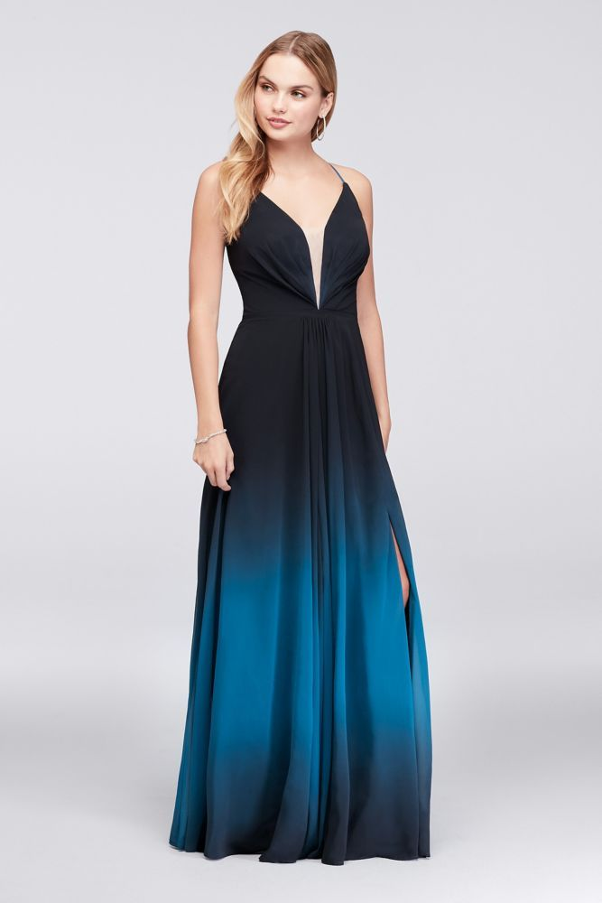 959670d271821 Ombre Chiffon Halter A-Line Gown | *Clothing > Dresses* in 2019 ...
