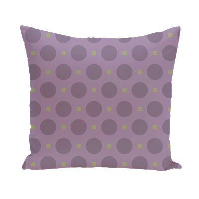 E by Design Connect-The-Dots Decorative Pillow Purple / Green Polyester - PGN184...