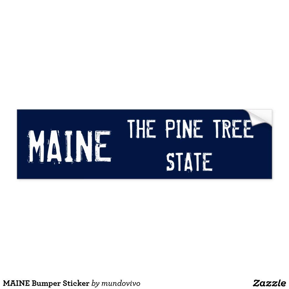 Maine Bumper Sticker Bumper Stickers Bumpers Stickers [ 1104 x 1104 Pixel ]