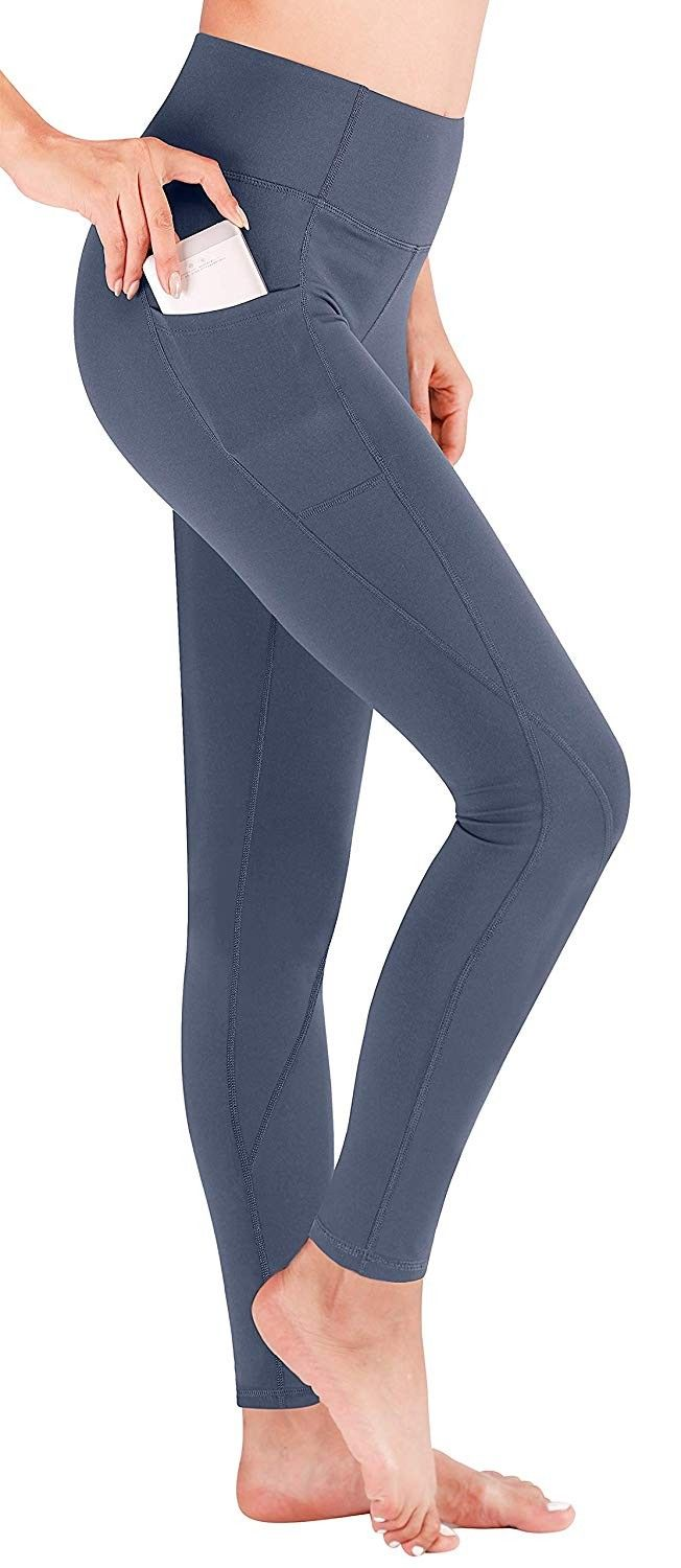 Yoga Pants Extra Soft Leggings with Pockets for Women Non See-Through Stretchy High Waist Girls' Wor...