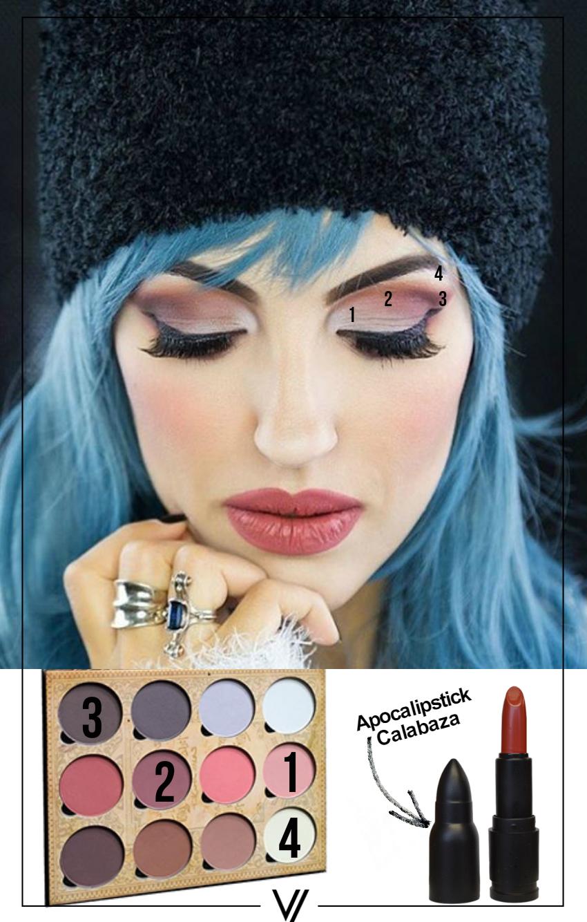 Ojos: Contour Palette Labios: Calabaza  #LunatickLook #GetTheLook #Makeup