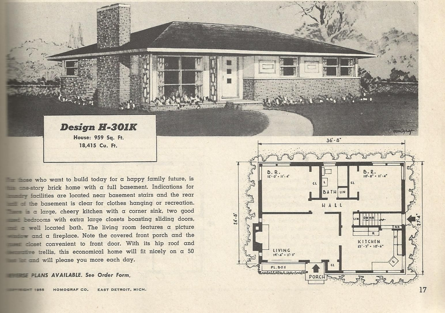 Superior House · 1950s Ranch Plans ...