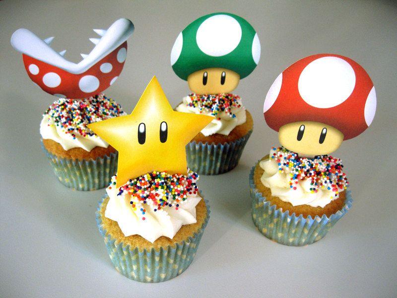 Super Mario 2 5 Quot Cupcake Toppers 4 Doz Diy Kit Piranha