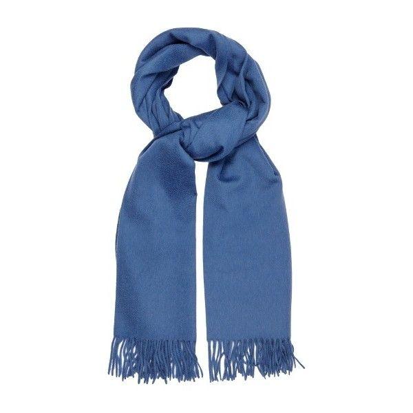 Max Mara Riber scarf (44.015 RUB) ❤ liked on Polyvore featuring accessories, scarves, blue, maxmara, cashmere wrap shawl, cashmere shawl, cashmere scarves and blue shawl