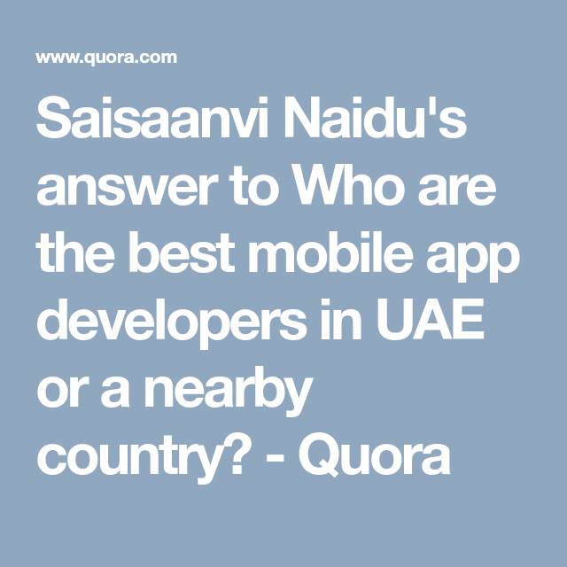 Saisaanvi Naidu's answer to Who are the best mobile app