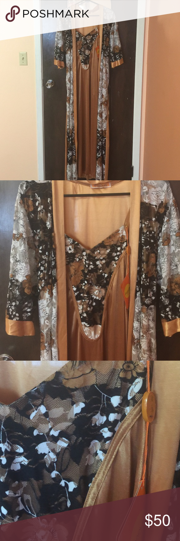Weeding sleeping gown / robe Brand new 3 pieces with tag it say XXL but I think it's for size L Intimates & Sleepwear Robes