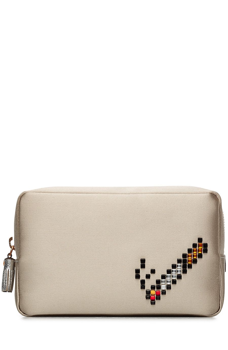 ANYA HINDMARCH Cigarette Makeup Pouch. #anyahindmarch #bags #leather #pouch #accessories #