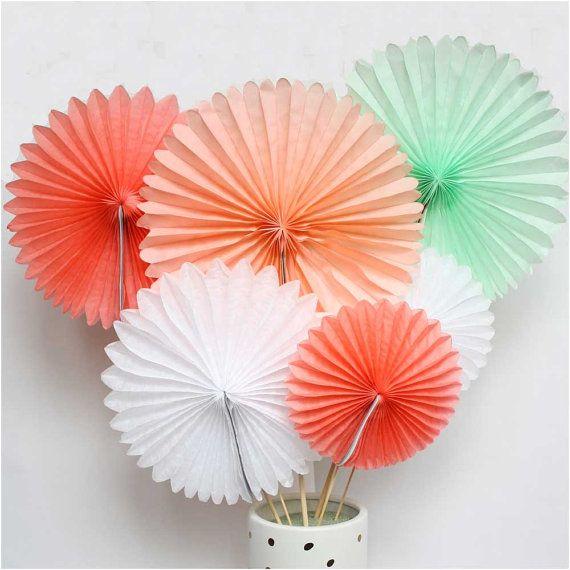 Hanging paper fans