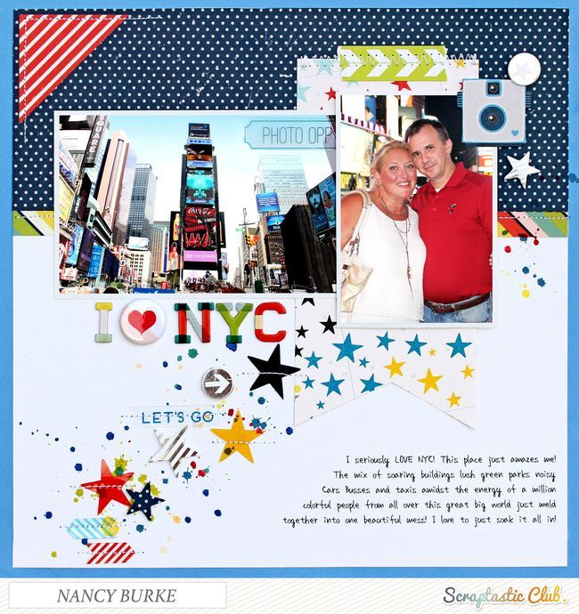 I (Heart) NYC by Nancy Burke using the Scraptastic Club Can't Go Home kit