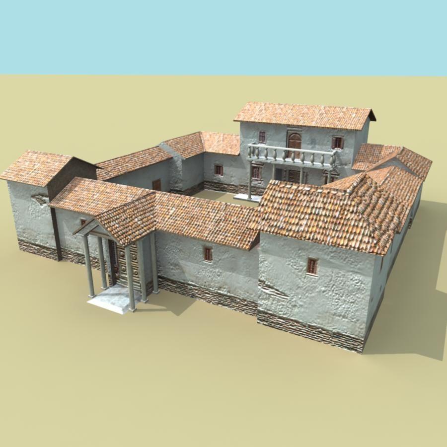 Making a model of a roman house