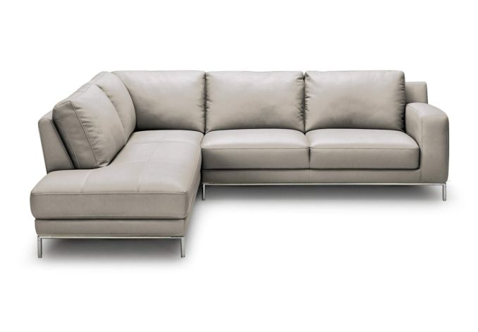 Lhf leatherlux corner sofa with chaise end linea for Chaise end sofas