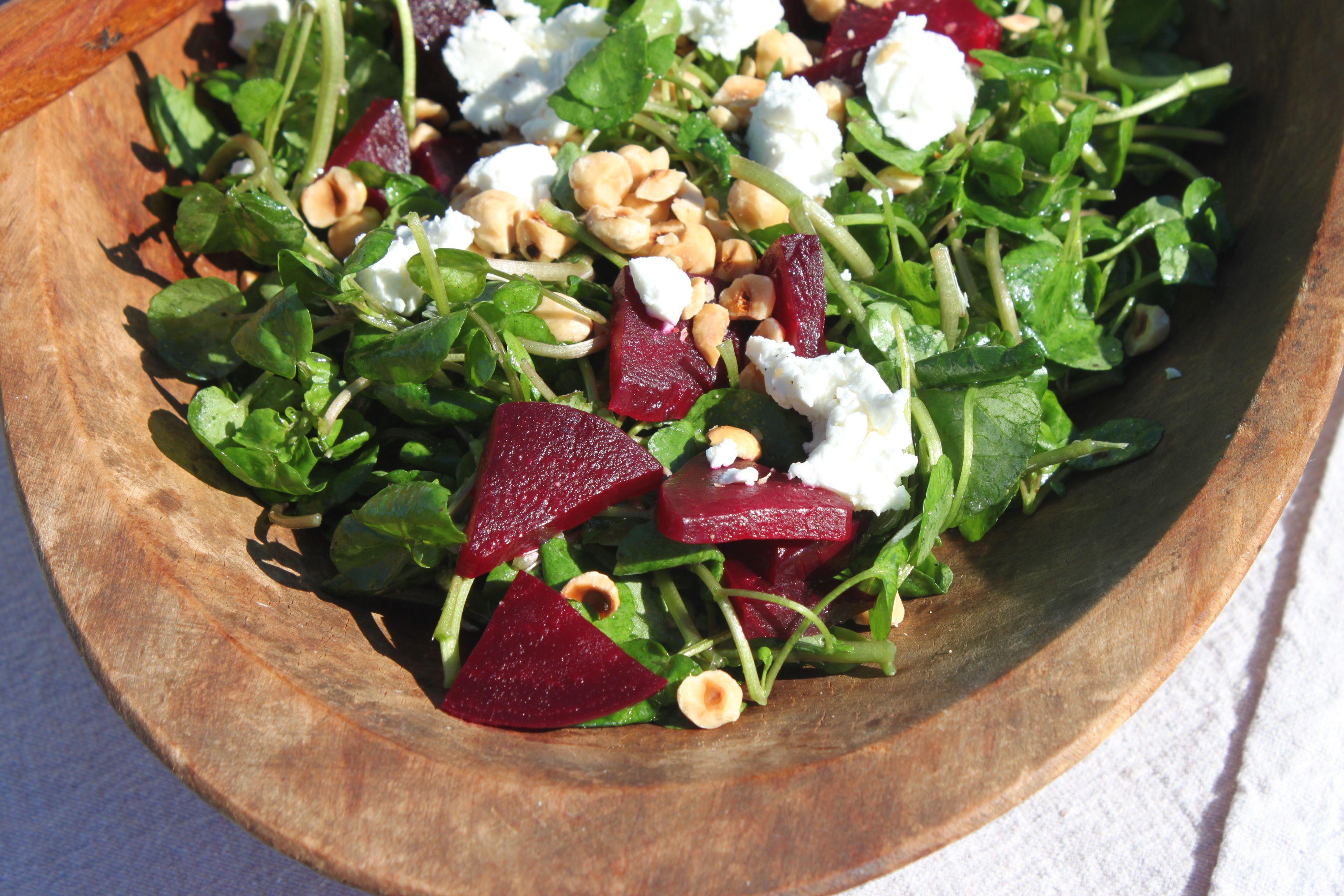 Sausalito Springs Watercress & Beet Salad