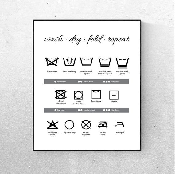 picture regarding Printable Laundry Symbols referred to as Laundry Logo Print, Laundry Electronic Obtain, Laundry Wall