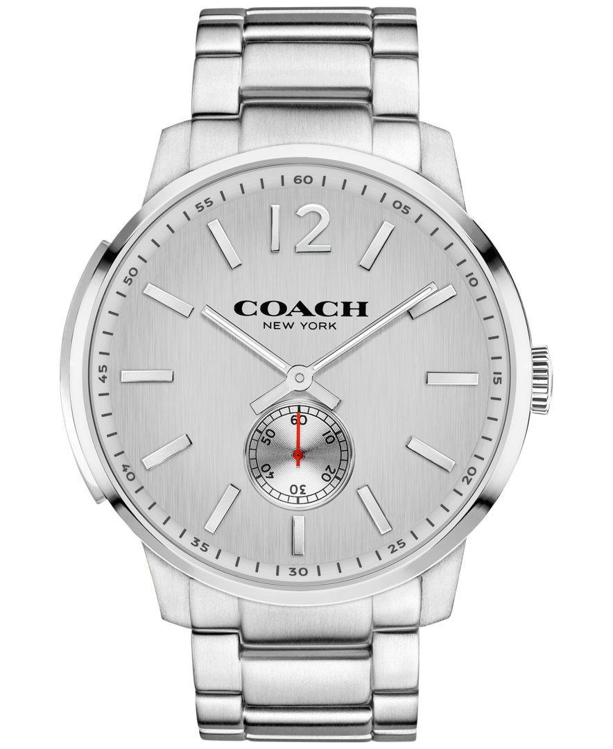 Coach Men's Bleecker Stainless Steel Bracelet Watch 46mm 14602077